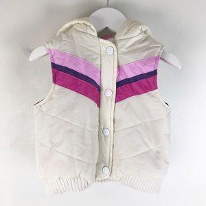 toddler 2T 24mo retro pink chevron vest 0908